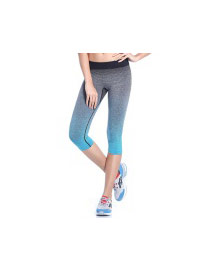 Fashion Green Gradient Decorated Simple Tight Sport Pants