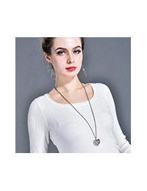 Collar Belleza En Forma De Corazón Decorado Con Árbol