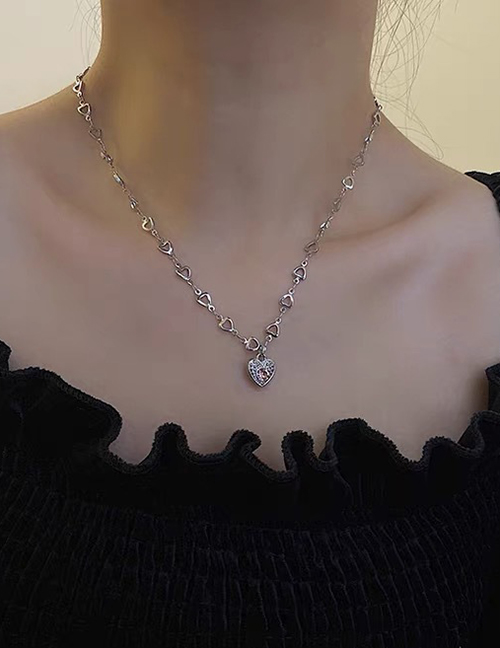 Collar Corazón De Acero Titanio