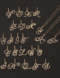 Collar De Cadena De Alfabeto Inglés Con Micro Incrustaciones De Circonitas Letras:cadena