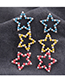 Fashion Yellow Pentagram Ear Stud