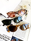 Fashion Black Resin Oval Sunglasses