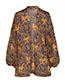 Fashion Orange Leopard Chiffon Leopard Print Shawl