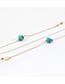 Fashion Golden Colorfast And Easy To Fade Skull Turquoise Glasses Chain