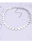 Elegant Silver Color Heart Shape Design Pure Color Choker
