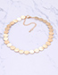 Elegant Silver Color Round Shape Design Pure Color Choker