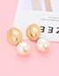 Elegant Gold Color Pearls Decorated Simple Earrings