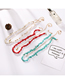 Fashion Red Alloy Turquoise Shell Two-layer Necklace