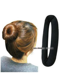 Plated Black Oblong Shape Velvet Hair band hair hoop