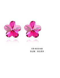 Budget Purple Earrings Alloy Crystal Earrings