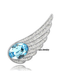 Local sea blue Blue Brooch Alloy Crystal Brooches