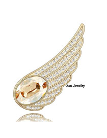 Plain Champagne gold Champagne Champagne Brooch Alloy Crystal Brooches