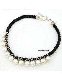 Bead Black Handmade Weave Imitate Pearl