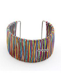 Dancing Multicolour Twine Alloy Fashion Bangles