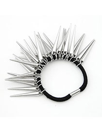 Pearl Silver Color Rivet Charm Design Alloy Hair band hair hoop