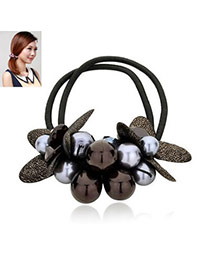Stationary Black Handmade Design Rubber Band Hair band hair hoop