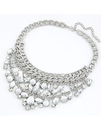 Sling Silver Color Two Layer Pendant Design