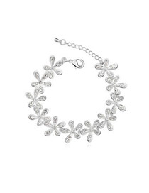 Lovable Silver Color Exquisite Flower Style Austrian Crystal Crystal Bracelets