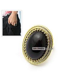 Baltic Black Simple Ring Alloy Fashion Rings