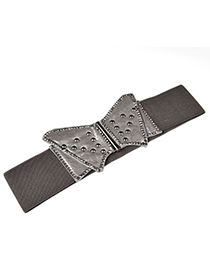 Memorial Brown Bow PU Wide belts