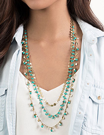Bohemia Collar De Suéter Decorado Con Perlas