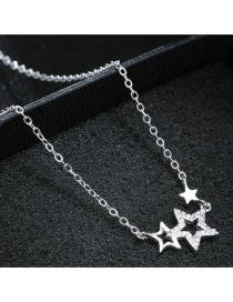 Fashion Silver Color Star Shape Decorated Necklace