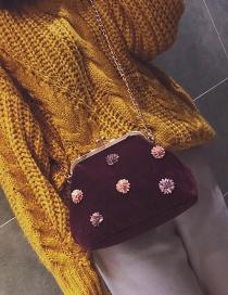 Bolsa De Hombro Decorada Con Flores