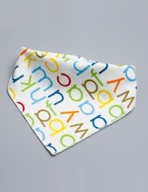 Lovely Multi-color Letter Shape Decorated Bib