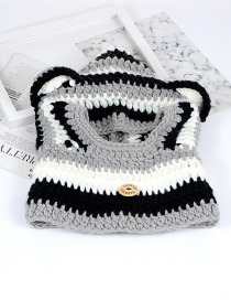 Cute Gray Bear Ear Shape Decorated Hat