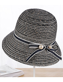 Sombrero Trenzado Decorado Con Moño