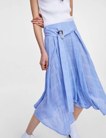 Falda De Color Puro De Moda