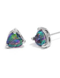 Fashion Multi-color Heart Shape Decorated Earrings