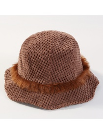 Sombrero Tejido De Color Puro Con Flecos