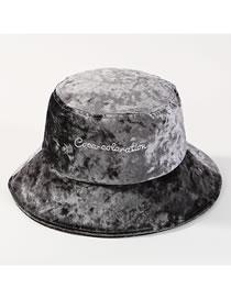 Sombrero Terciopelo Color Puro De Letras