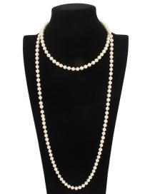 Collar Largo De Perlas De Moda