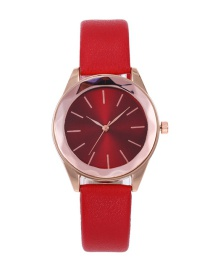 Reloj Redondo De Color Puro De Moda