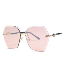 Gafas De Sol De Corte Verdadero En Color Diamante