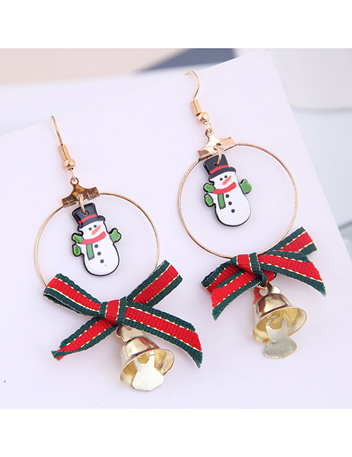 Pendientes Circle Bow Bell Christmas Series
