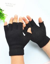 Guantes De Pantalla Táctil De Acrílico Antideslizantes Con Pegamento De Medio Dedo