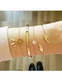 Alloy Pentagram Bracelet Set