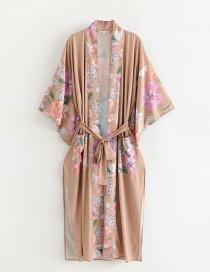 Top De Kimono Festivo Estampado De Flores
