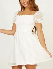 Vestido Jacquard Copo De Nieve