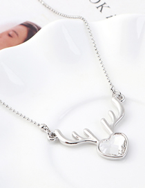 Collar De Cristal De Corazón De Alce