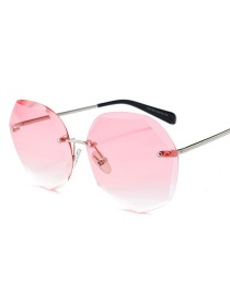 Crystal Cut Edge Square Gradient Ocean Slice Gafas De Sol