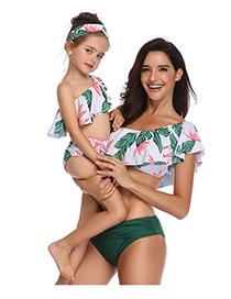 Bikini Flash Estampado Follaje Niños