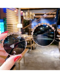 Gafas De Sol Redondas De Aleación De Flores Para Niños