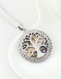 Collar De Madera Dorada: Madera De La Suerte Geométrica