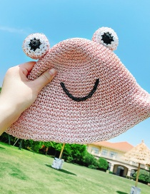 Sombrero Para El Sol Con Sombra De Rana De Paja Para Niños