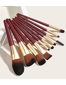 Pinceles De Maquillaje Rojo De Glicosina 10pcs