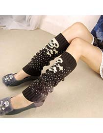 Street Coffee Cartoon Skull Design Knitting Wool Fashion Gloves
